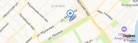 Отдел транспорта на карте Бийска