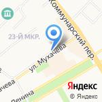 СЛАСТЁНА на карте Бийска