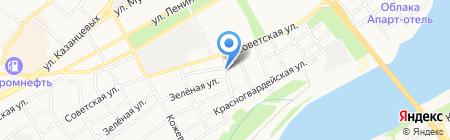 Универсал на карте Бийска
