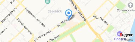 Первая городская поликлиника на карте Бийска