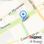 Каравай на карте Бийска