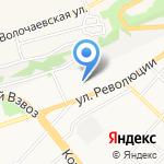 Салон-магазин обоев на карте Бийска