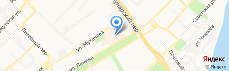 Бийчанка на карте Бийска