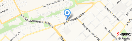 Бульвар на карте Бийска