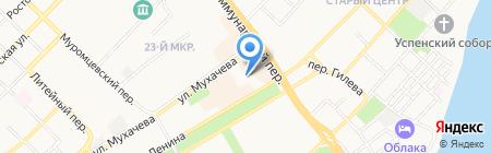 Эконом на карте Бийска