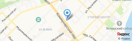 Ориентир на карте Бийска