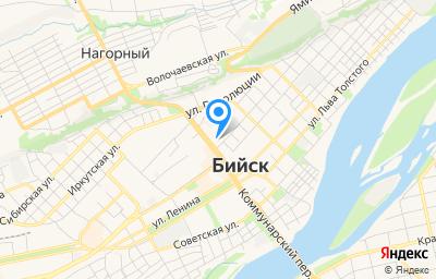 Местоположение на карте пункта техосмотра по адресу Алтайский край, г Бийск, ул Сенная, д 124