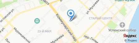 Автоградъ на карте Бийска