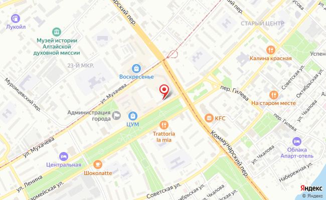 Карта расположения пункта доставки Билайн в городе Бийск