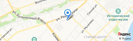 Юлия на карте Бийска