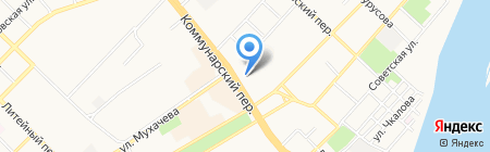 Киоск по продаже цветов на карте Бийска