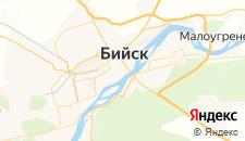Гостиницы города Бийск на карте