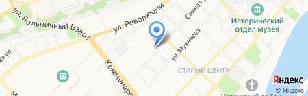 Магазин одежды на карте Бийска