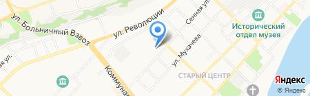Вуаль на карте Бийска