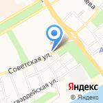 Автозапчасти на Советской на карте Бийска