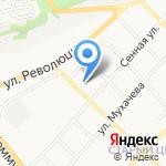 Магазин автозапчастей для отечественных автомобилей на карте Бийска