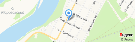 Зареченский на карте Бийска