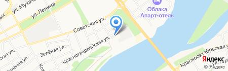 Швейно-галантерейный комбинат на карте Бийска