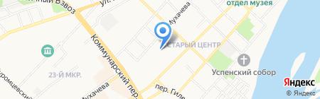 Пристань на карте Бийска