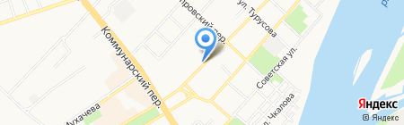Центральный на карте Бийска