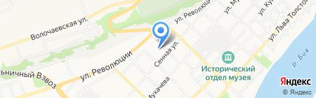 Сова на карте Бийска