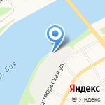 Мост на карте Бийска