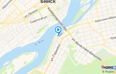 Местоположение на карте пункта техосмотра по адресу Алтайский край, г Бийск, ул Краснооктябрьская, д 35