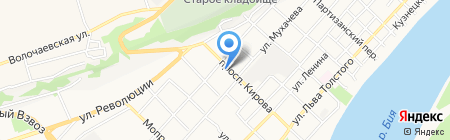 Энси на карте Бийска