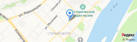 Алтайский центр земельного кадастра и недвижимости на карте Бийска