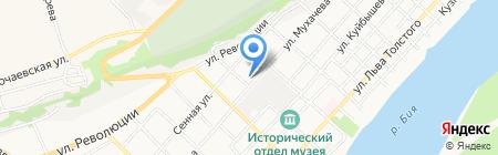 Отдел Военного комиссариата Алтайского края по г. Бийску и Бийскому району на карте Бийска