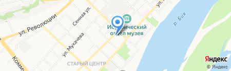 Автостоянка на ул. Ленина на карте Бийска