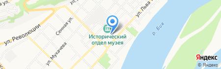 Почтовое отделение №25 на карте Бийска