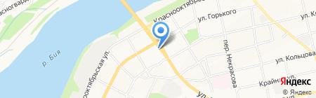 Росток на карте Бийска