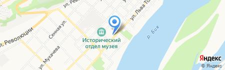 Такси-сервис на карте Бийска