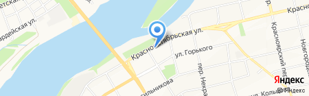 Библиотека №2 на карте Бийска