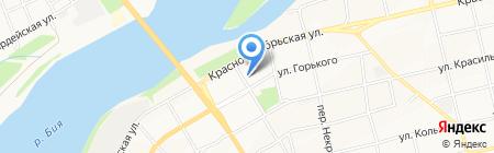 Движок на карте Бийска
