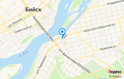 Местоположение на карте пункта техосмотра по адресу Алтайский край, г Бийск, ул Максима Горького, д 139