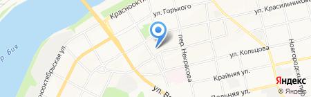 Средняя общеобразовательная школа №6 на карте Бийска