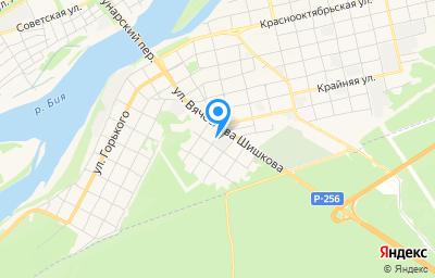 Местоположение на карте пункта техосмотра по адресу Алтайский край, г Бийск, ул Крестьянская, влд 64
