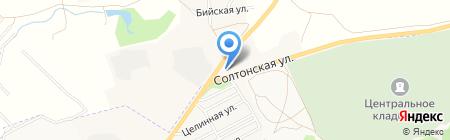 АЗС СВ на карте Бийска