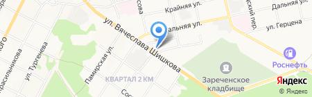 Вездеход на карте Бийска