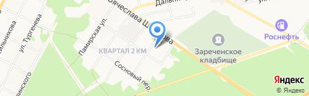 Магазин автозапчастей для МАЗ на карте Бийска
