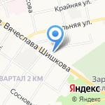 Трансшины на карте Бийска