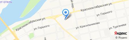На Октябре на карте Бийска