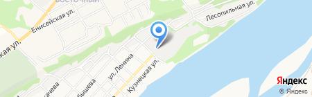 Сибиряк на карте Бийска