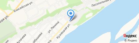 Лада на карте Бийска