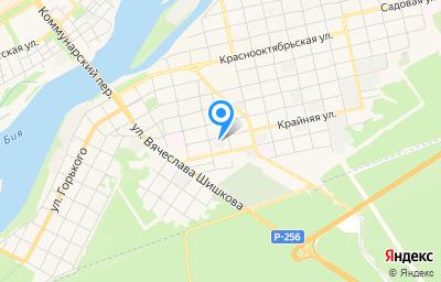 Местоположение на карте пункта техосмотра по адресу Алтайский край, г Бийск, ул Крайняя, д 40