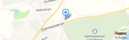 АСМ-Алтай на карте Бийска
