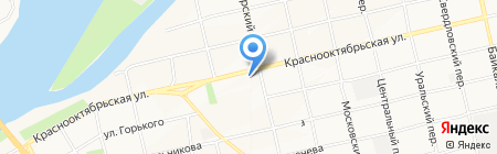 Парикмахерская на Октябре на карте Бийска