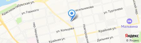 Алтай-Кор на карте Бийска